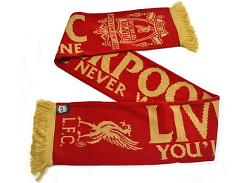 Liverpool skjerf Gold Jacquard