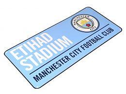Manchester City Metallskilt