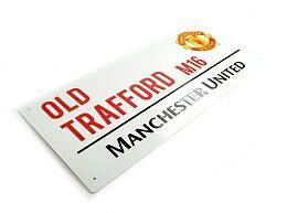 Manchester United Metallskilt