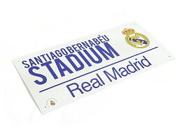 Real Madrid Metallskilt