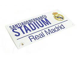 Real Madrid Metallskilt