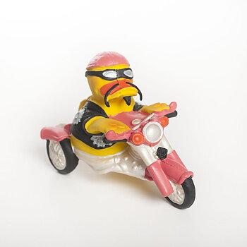 Anka på motorcykel
