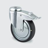 Hjul ESD, 125 mm med bygel med broms