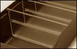 Avdelare till lagerlåda, 240 x 95 mm
