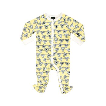 Villervalla Pyjamas With Foot Koala -Soft Sunflower