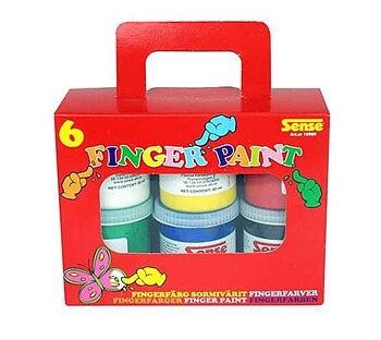 Sense - Fingerfärg 6-pack