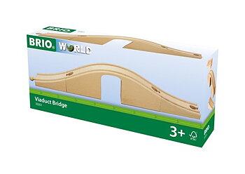 Viadukt Brio tåg bro med tunnel