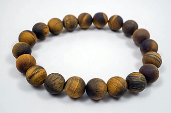 10mm matt tigeröga armband 20cm