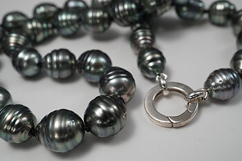 Tahitipärlor, halsband Lås 925-silver