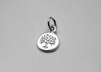 Livets träd, litet hänge 7mm 925-silver
