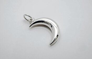 Moon pendant 15mm sterling silver
