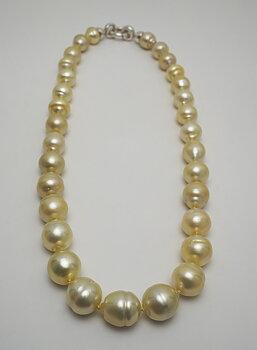 Söderhavspärlor, halsband lås 925-silver