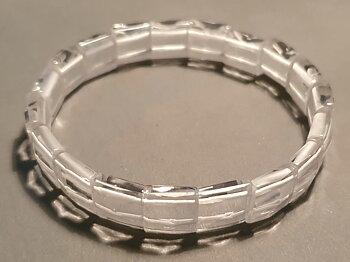 Bergkristall fasetterad ca. 10mm bred armband