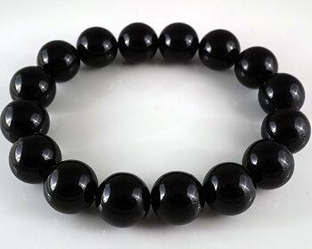 JOD Bubbles: Svart onyx 12 mm, armband
