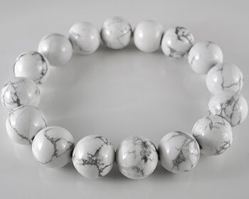 JOD Bubbles: Bracelet in Howlite 12mm