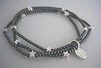 JOD Rymd. Stjärnklar: Trippelarmband, 925-silver