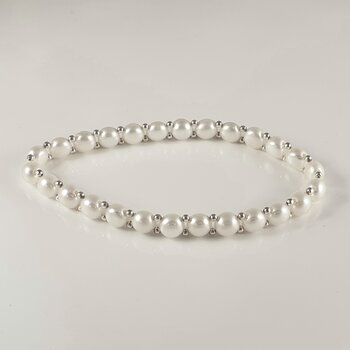 Bracelet with freshwaterpearls, 925-silver