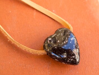 Hjärta 25mm hänge, porfyr