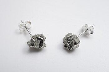 Pyrit chispa earstick, 925-silver