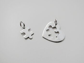 2part pendant sterling silver