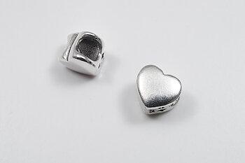 Silverhjärta, hål 3 mm, hänge 925-silver