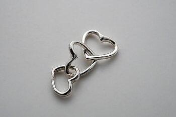 Tre hjärtan, hänge 925-silver