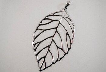Blad hänge 925-silver