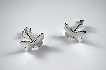 Fjäril 12mm örstick, 925-silver