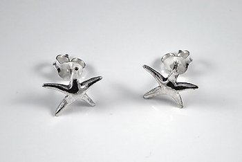 Starfish earstick, 925-silver