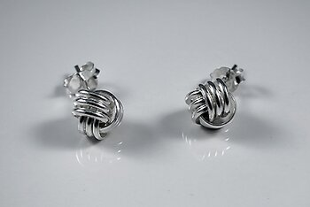 Knot earstick sterling silver
