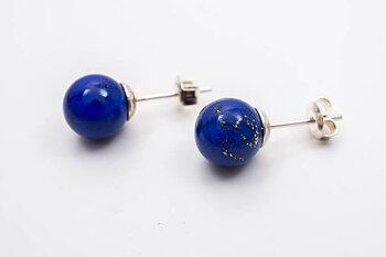 Lapis lazuli örstick kula 8mm, 925-silver
