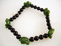 JOD Flower: bracelet onyx +jade