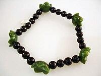 JOD Flower: Onyx+jade, armband
