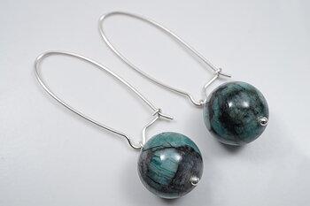 Smaragd-bubblesörhängen, 925-silver