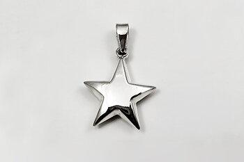 Stjärna, bulligt hänge 925-silver