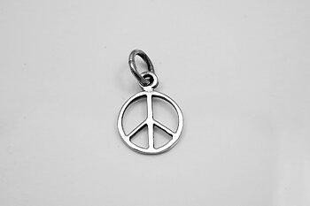 Peacemärke hänge, 925-silver