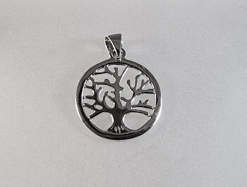 Tree of life, pendant 17mm Sterling silver