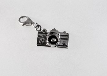 Camera, charm, Sterling silver