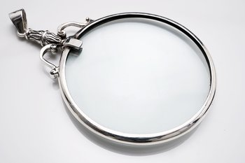 Magnifier, pendant Stering silver 50mm