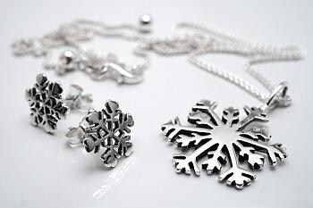 Snöflinga, smyckeset 925-silver
