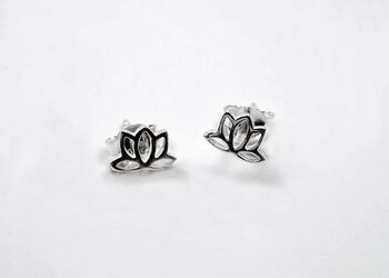 Lotus, earstick 925-silver