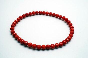 4mm dyed bamboocoral bracelet 19cm