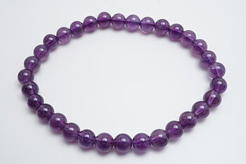Bracelet with amethyst 6mm