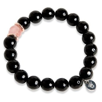 Pearls for Girls armband agat svart