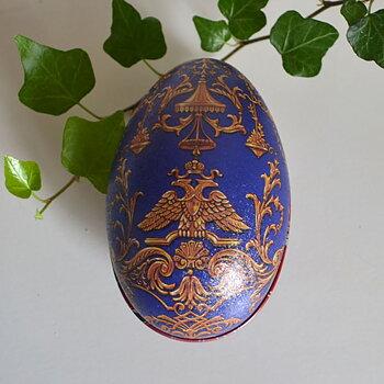 Ägg Fabergé - blått och guld