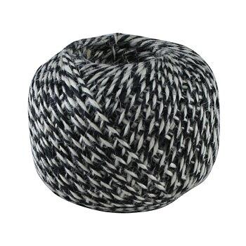 Jutesnöre - svart och vitt