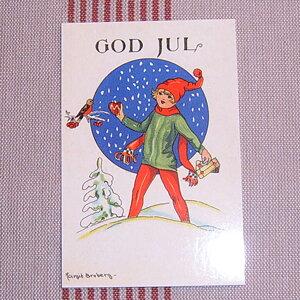 Julkort - Barn med Domherre