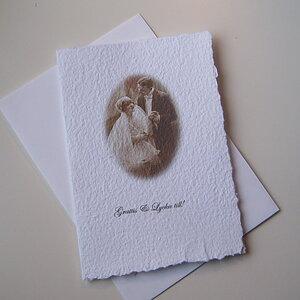 Dubbelt kort med brudpar