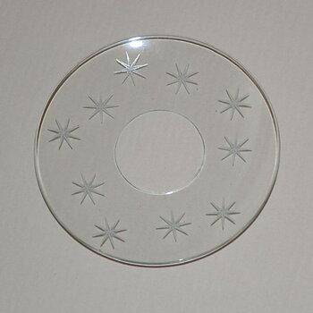Ljusmanschett i glas - vita stjärnor