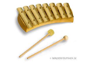 Musikinstrument: Klockspel Diatoniskt 8 toner (KDH008)